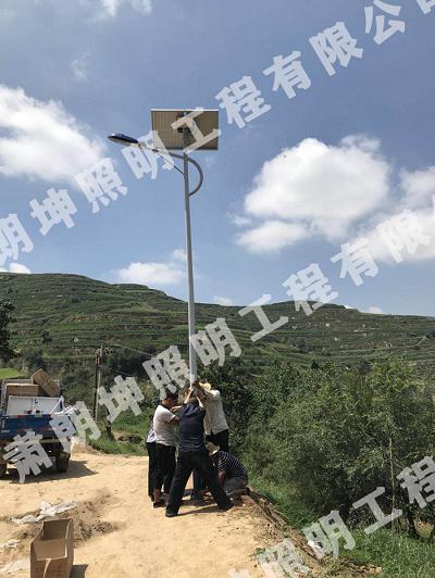 临夏考勒乡某农村太阳能路灯安装工程