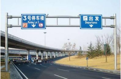 交通标志牌引领现代城市发展